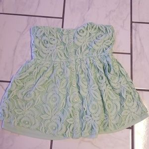 Vanity mint green Tube top